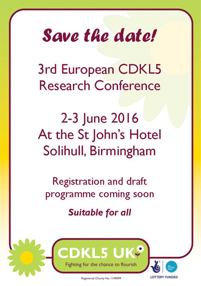 3rd international CDKL5 meeting